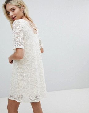 photo Lace Swing Dress by Monki, color White - Image 2