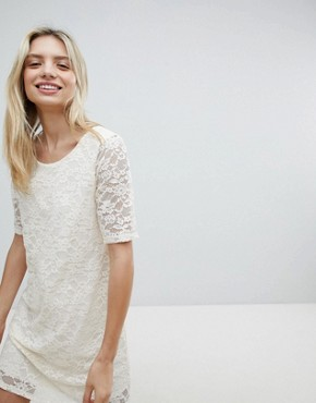photo Lace Swing Dress by Monki, color White - Image 1