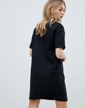 photo T-Shirt Dress with Contrast Seaming by ASOS, color Black - Image 2