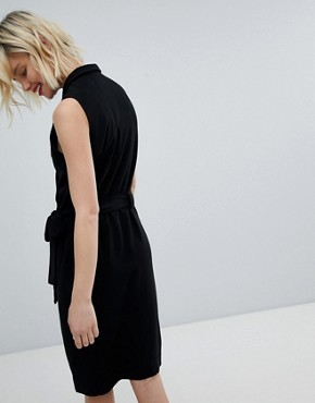 photo Tuxedo Dress with Side Tie by Paisie, color Black - Image 2