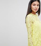 photo Lace Midi Swing Dress with Ruffle Hem by ASOS DESIGN Tall, color Yellow - Image 3