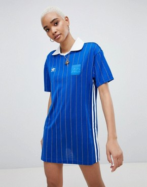 photo Fashion League Dress in Blue by adidas Originals, color Blue - Image 1