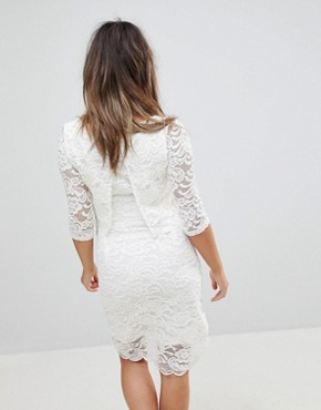 photo Lace Dress by Mama.licious Nursing, color White - Image 2