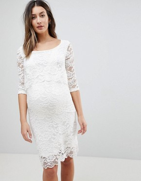 photo Lace Dress by Mama.licious Nursing, color White - Image 1