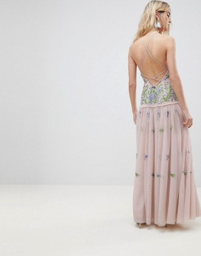 photo Meadow Floral Embellished Maxi Dress by ASOS EDITION, color Multi - Image 2