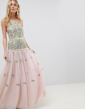 photo Meadow Floral Embellished Maxi Dress by ASOS EDITION, color Multi - Image 1