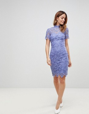 photo Daisy Crochet Dress by Paper Dolls, color Bluebell - Image 1