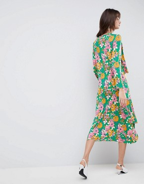 photo Relaxed Tea Dress in Bold Floral Print by ASOS DESIGN, color Floral Print - Image 2