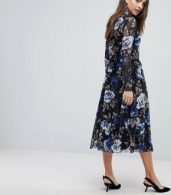 photo Floral Mesh Skater Dress by Y.A.S, color Multi - Image 2