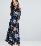 photo Floral Mesh Skater Dress by Y.A.S, color Multi - Image 1