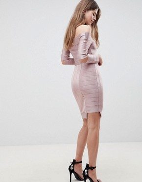 photo Bandage Bodycon Dress by French Connection, color Teagown - Image 2