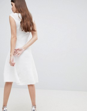 photo Knitted Fit and Flare Dress by French Connection, color White - Image 2