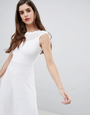 photo Knitted Fit and Flare Dress by French Connection, color White - Image 3