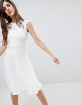 photo Knitted Fit and Flare Dress by French Connection, color White - Image 4
