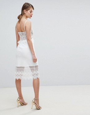 photo Strappy Lace Midi Dress by French Connection, color Nude - Image 2