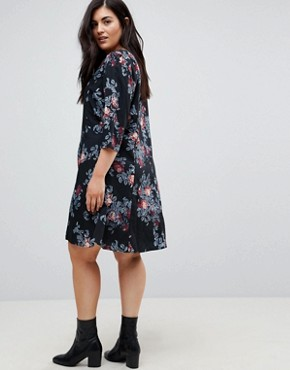 photo Floral Printed Shift Dress by Junarose, color Multi - Image 2