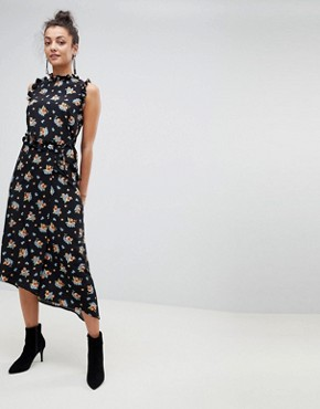 photo Midi Tea Dress in Dark Floral by ASOS TALL, color Multi - Image 2