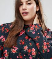 photo Shirt Dress in Dark Floral by ASOS CURVE, color Floral - Image 3