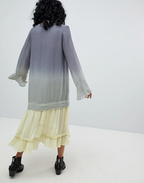 photo Maxi Dress in Dip Dye by Religion, color Grey - Image 2