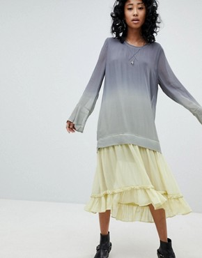 photo Maxi Dress in Dip Dye by Religion, color Grey - Image 1