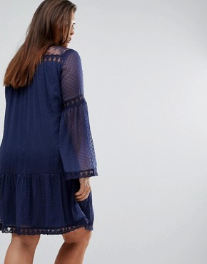 photo Spot Smock Dress by Junarose, color Blue - Image 2