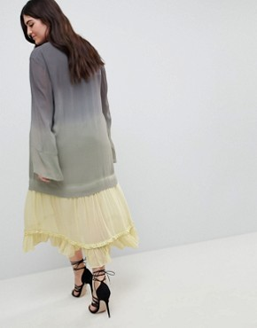photo Maxi Dress in Dip Dye by Religion Plus, color Grey - Image 2