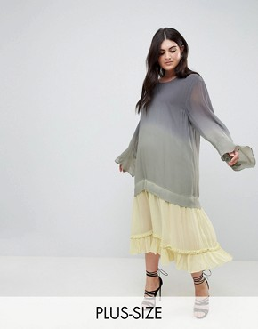 photo Maxi Dress in Dip Dye by Religion Plus, color Grey - Image 1