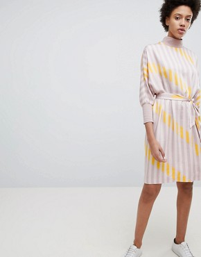 photo Stripe Printed Shift Dress by Selected, color Multi - Image 1