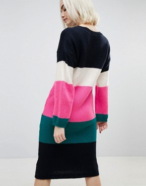 photo Chunky Knitted Dress in Stripe by ASOS, color Multi - Image 2