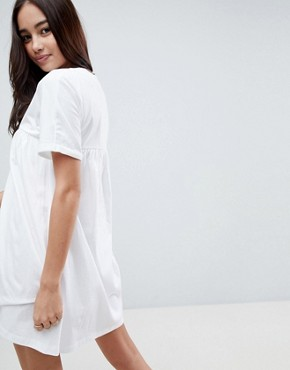 photo Cotton Smock Dress by ASOS ULTIMATE, color White - Image 2