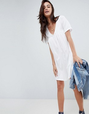 photo Cotton Smock Dress by ASOS ULTIMATE, color White - Image 4