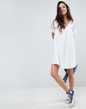 photo Cotton Smock Dress by ASOS ULTIMATE, color White - Image 1