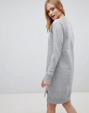 photo Carin Print Sweat Dress by Blend She, color Light Grey Melange - Image 2