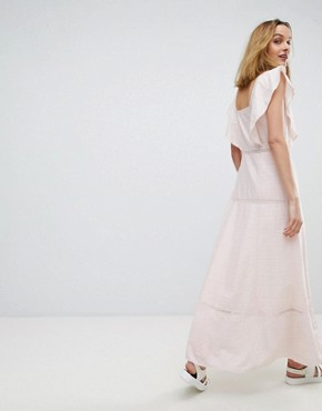 photo Frill Maxi Dress by Paul & Joe Sister, color Light Pink - Image 2