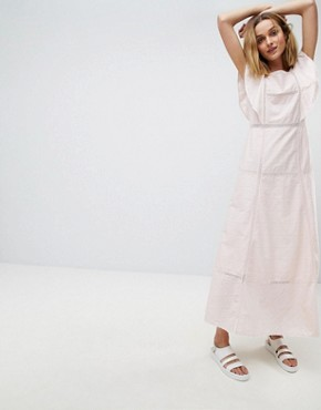 photo Frill Maxi Dress by Paul & Joe Sister, color Light Pink - Image 1