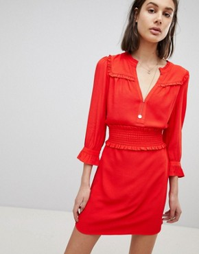 photo Smock Flare Dress by BA&SH, color Grenedene - Image 1