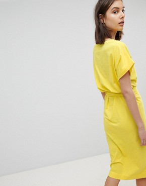 photo Jersey Tie Up Dress by BA&SH, color Yellow - Image 2
