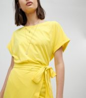 photo Jersey Tie Up Dress by BA&SH, color Yellow - Image 3