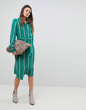 photo Stripe Shirt Dress by Y.A.S Tall, color Multi - Image 4