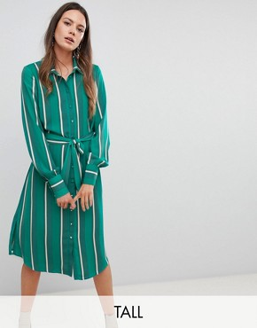 photo Stripe Shirt Dress by Y.A.S Tall, color Multi - Image 1