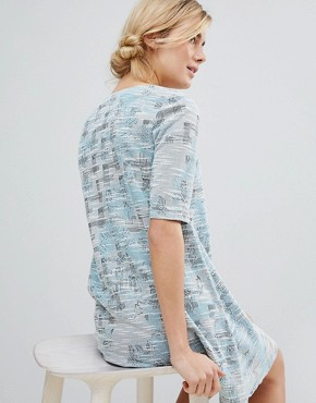 photo Dress in Tapestry Weave Fabric by See U Soon, color Blue - Image 2