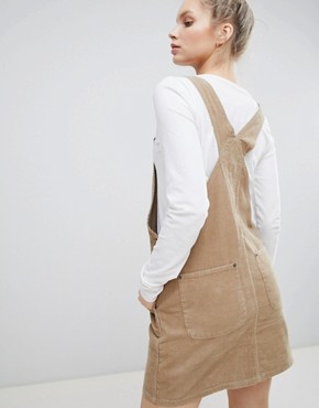 photo Cord Dungaree Dress in Stone by ASOS DESIGN, color Stone - Image 2