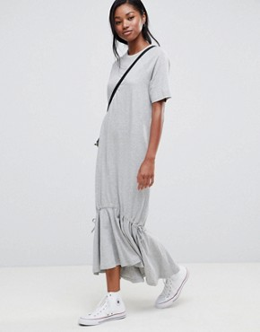 photo Drop Hem Maxi Dress by ASOS, color Grey Marl - Image 1