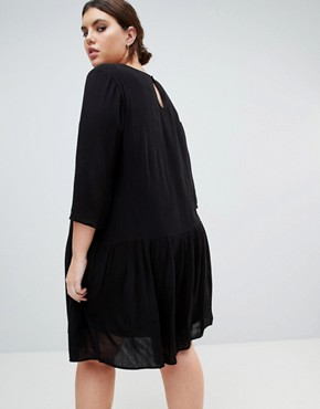 photo Embroidered Smock Dress by Junarose, color Black - Image 2