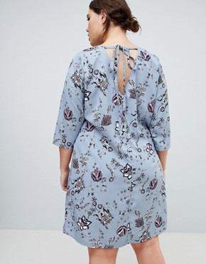 photo Delicate Floral Print Shift Dress by Junarose, color Multi - Image 2
