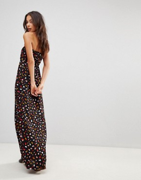 photo Bandeau Maxi Dress by Oh My Love, color Black - Image 2