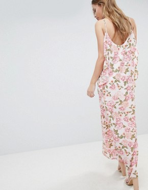 photo Cami Maxi Dress with Frill Detail by Oh My Love, color Multi - Image 2