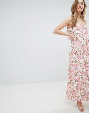 photo Cami Maxi Dress with Frill Detail by Oh My Love, color Multi - Image 1