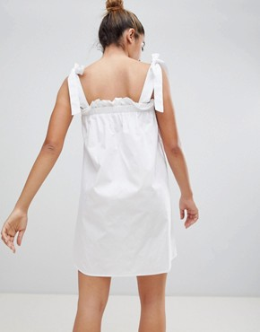 photo Sun Dress with Tie Shoulders by Fashion Union, color White - Image 2