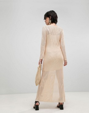 photo It's Like This Crochet Lace Midi Dress by Free People, color Neutral - Image 2